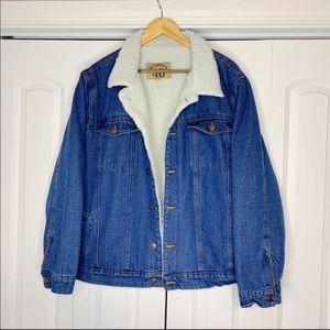 Sherpa lined denim jacket